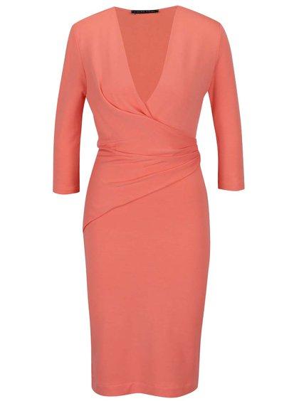 Oranžové šaty s mašlí Pietro Filipi