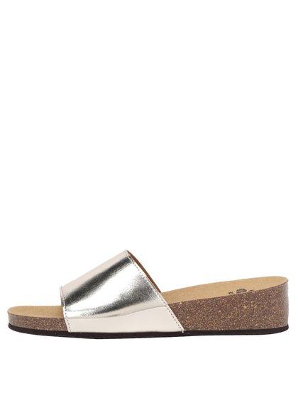 Papuci argintii Scholl Vinny cu reflexii