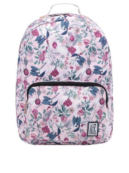 Růžový vzorovaný dámský batoh The Pack Society 18 l