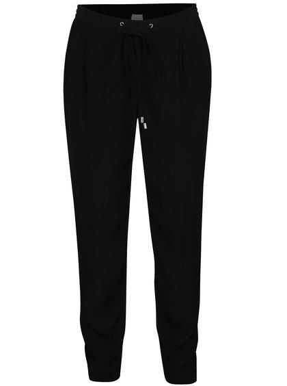 Pantaloni negri VILA Loha cu șiret în talie