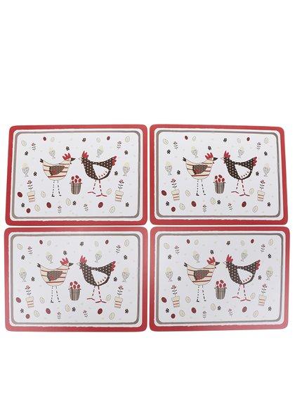 Set alb de 4 suporturi Cooksmart cu print