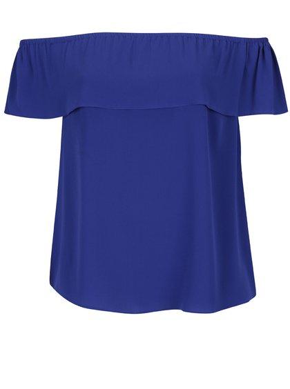 Modrá volná halenka se odhalenými rameny Dorothy Perkins Curve