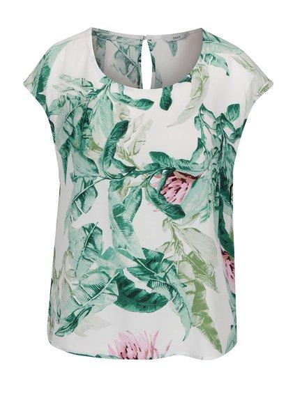 Zeleno-krémová květovaná halenka ONLY Elena