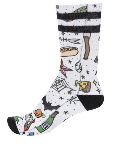 Bílé pánské vzorované ponožky American Socks