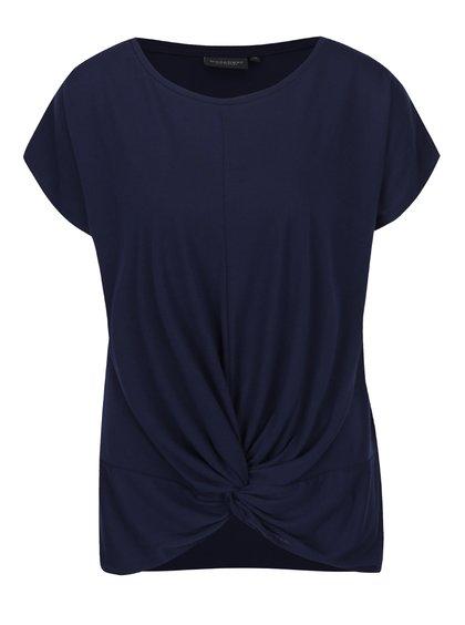 Tmavě modré dámské volné tričko s uzlem Broadway Florina