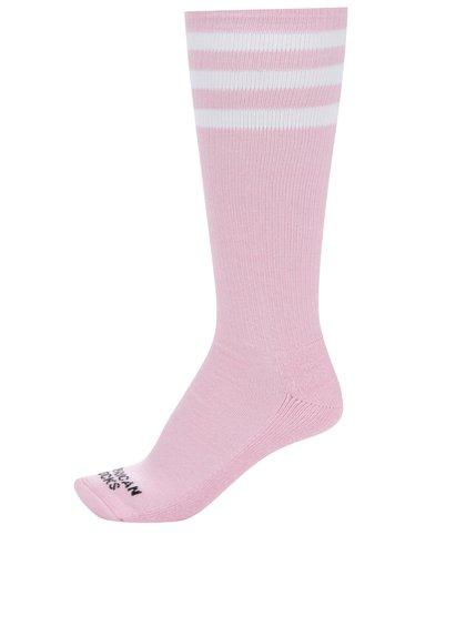 Șosete roz American Socks cu dungi