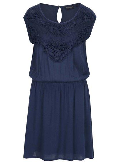 Tmavě modré šaty s krajkovými detaily Broadway Giuliana