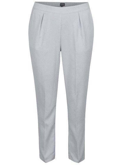 Světle šedé dámské volné zkrácené kalhoty Broadway Danelle