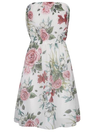 Krémové květované šaty Haily's Kelly
