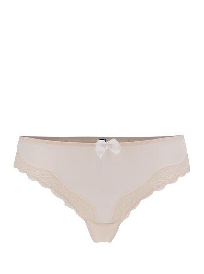 Světle růžová tanga s krajkovými detaily kalhotky ICÔNE Scarlette