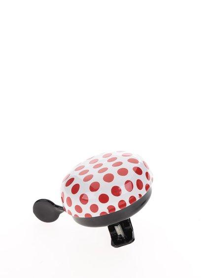 Krémovo-červený puntíkatý zvonek na kolo CGB