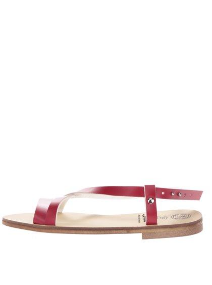 Červené sandály Snaha Rio 150
