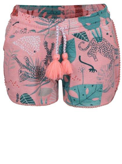 Růžové holčičí kraťasy s tropickým vzorem 5.10.15.