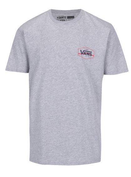 Šedé pánské triko s potiskem na zádech VANS