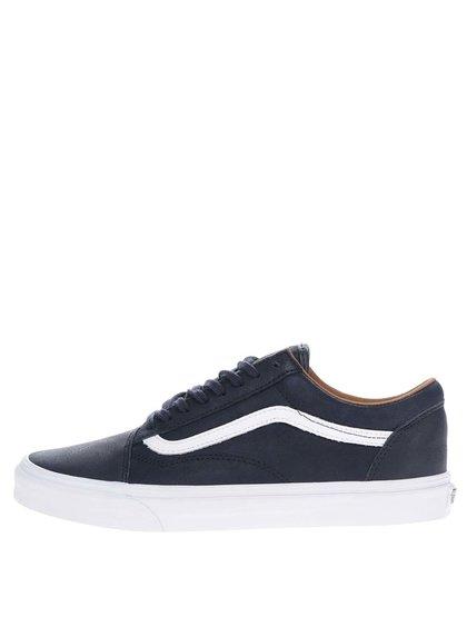 Pantofi sport albaștri VANS Old skool din piele