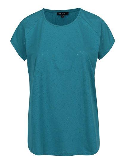 Zelené vzorované oversize tričko Ulla Popken