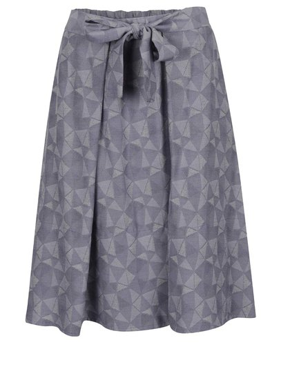 Modrá vzorovaná sukně se zavazováním v pase Jana Minaříková
