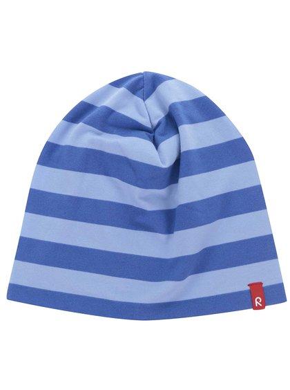 Modrá dětská pruhovaná oboustranná čepice proti slunci Reima Frappe