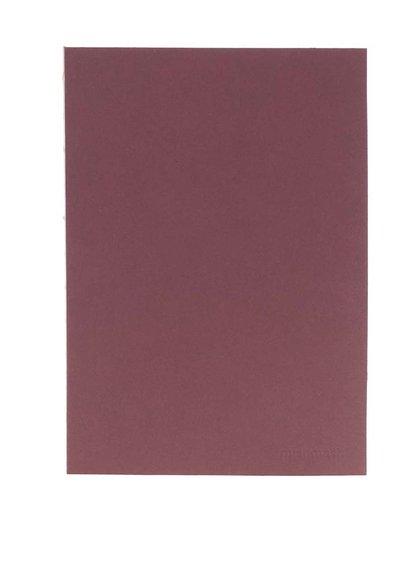 Hnědý zápisník s okrajem ve zlaté barvě Mishmash