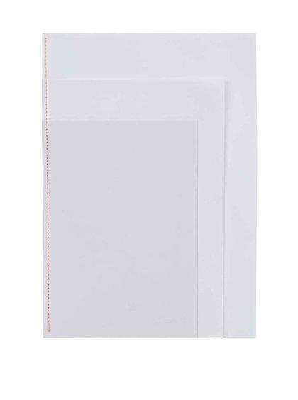 Bílý zápisník tří velikostí Mishmash