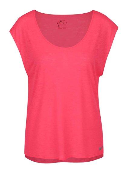 Růžové dámské funkční tričko s krátkým rukávem Nike