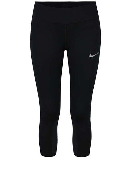 Černé dámské funkční tříčtvrteční legíny Nike