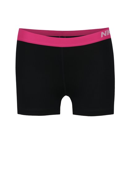 Pantaloni scurți negru&roz Nike cu talie elastică