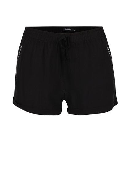 Pantaloni scurți negri  Haily´s Chloe cu talie elastică