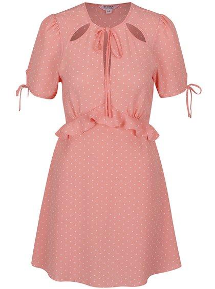 Rochie midi roz cu buline Miss Selfridge Petites