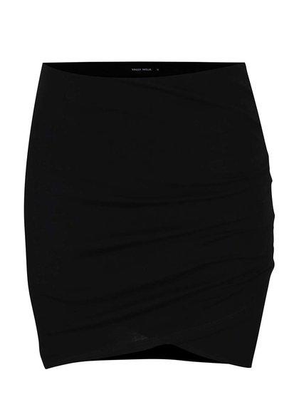 Černá sukně s řasením na boku TALLY WEiJL