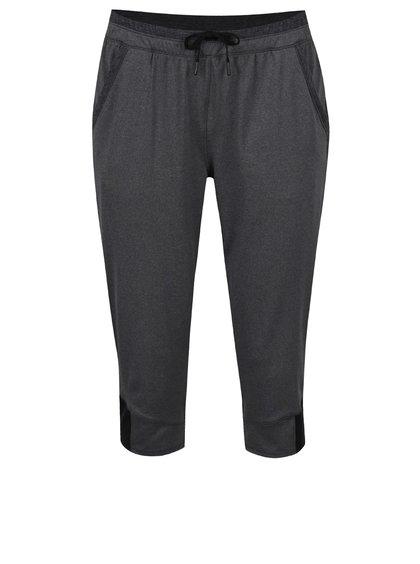 Černo-šedé dámské funkční 3/4 kalhoty Under Armour Sport Crop