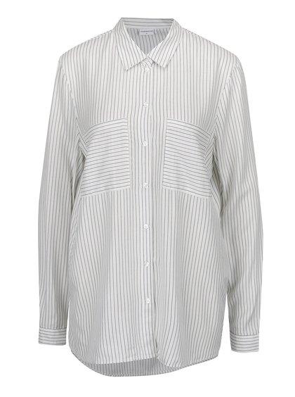 Krémová pruhovaná košile Jacqueline de Yong Jenni