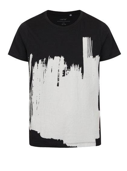 Tricou negru pentru băieți cu print alb name it Oville