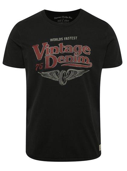 Černé triko s potiskem Jack & Jones Custom 6
