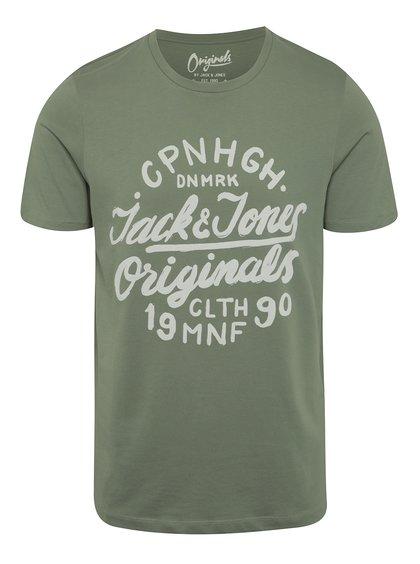 Zelené triko s potiskem Jack & Jones Surf