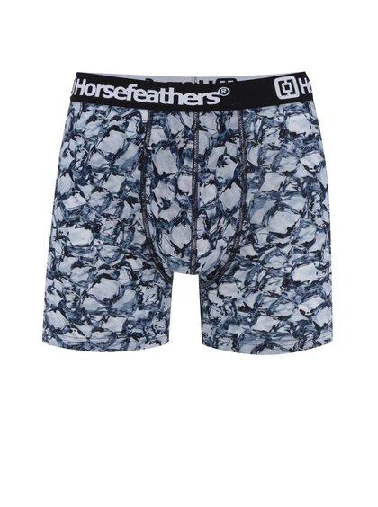 Boxeri negru&albastru  Horsefeathers Sidney cu imprimeu