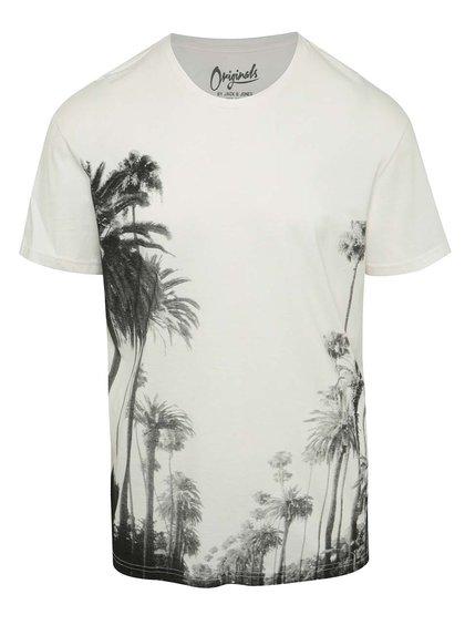 Krémové triko s potiskem Jack & Jones Malibu