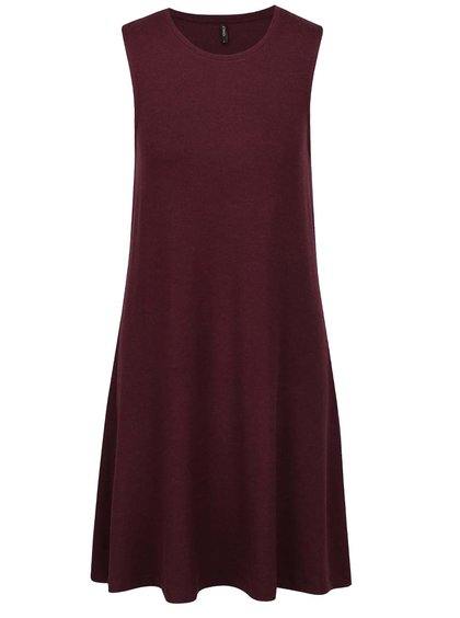Vínové basic šaty bez rukávů ONLY Moster