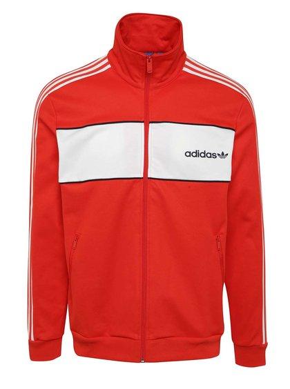 Červená pánská mikina na zip adidas Originals