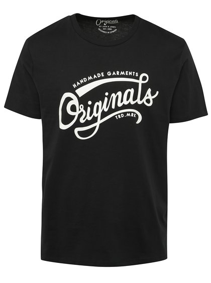 Černé triko s potiskem Jack & Jones Ornyraffa