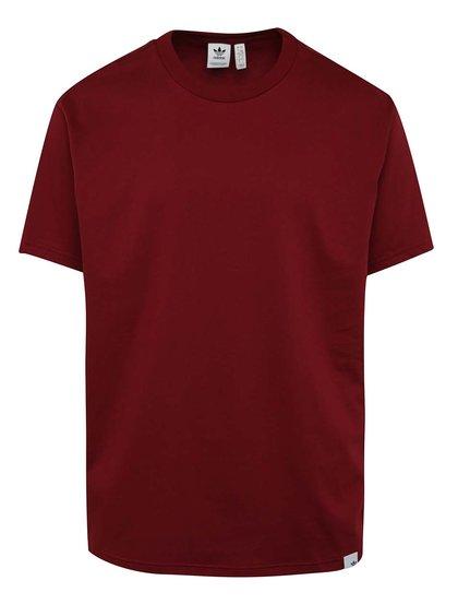 Vínové pánské volné triko s krátkým rukávem Originals X By