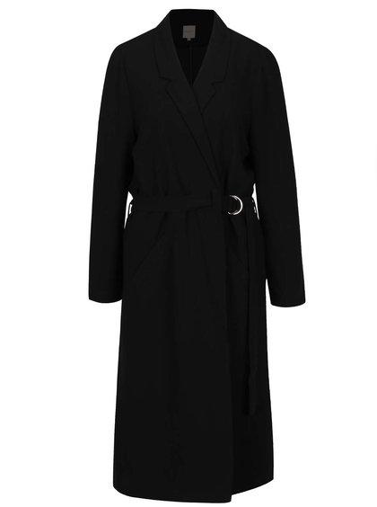Černý lehký kabát s páskem Selected Femme Violie
