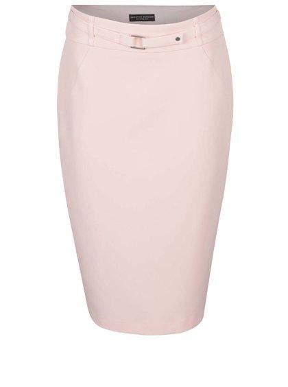 Fustă roz pal Dorothy Perkins cu croi conic
