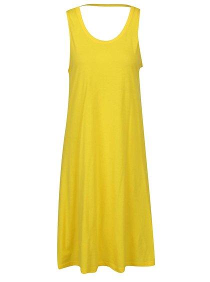 Žluté volné šaty s páskem na zádech VERO MODA Happy
