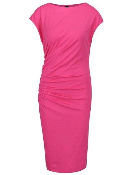 Růžové šaty s řasením na boku VERO MODA Katarina