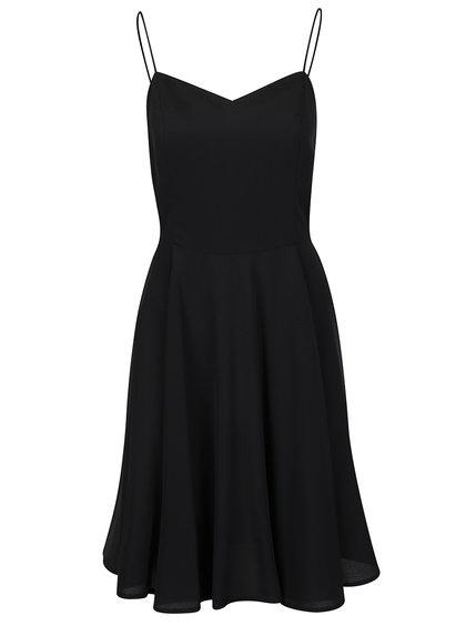 Rochie neagră cu bretele subțiri VERO MODA Mona
