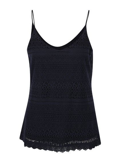 Top bleumarin din dantelă VERO MODA Honey
