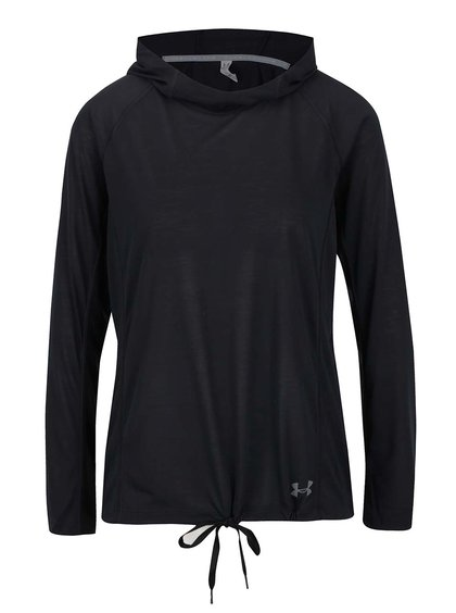 Černé dámské funkční tričko s kapucí Under Armour Threadborne Train