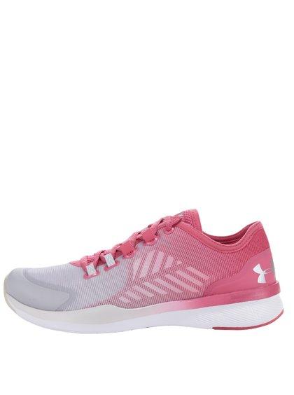 Šedo-růžové dámské tenisky Under Armour UA W Charged Push TR SEG