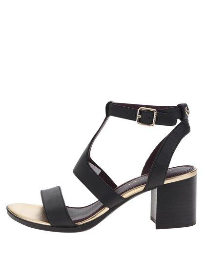 Dámské černé kožené sandálky Tommy Hilfiger